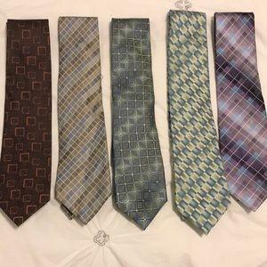 Set of 5 John Ashford Ties